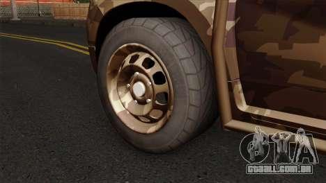 Dacia Duster Army Skin 4 para GTA San Andreas traseira esquerda vista