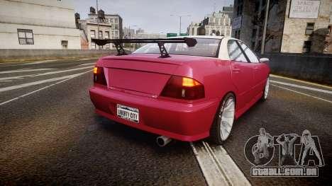 Dinka Chavos SXX para GTA 4 traseira esquerda vista