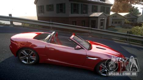 Jaguar F-Type v1.6 Release [EPM] para GTA 4 vista de volta