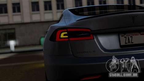 Tesla Model S 2014 para GTA San Andreas vista direita