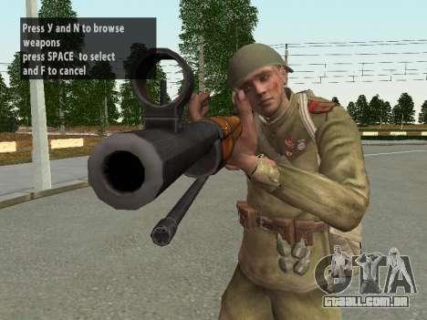 Os soldados do exército vermelho no capacete para GTA San Andreas décimo tela