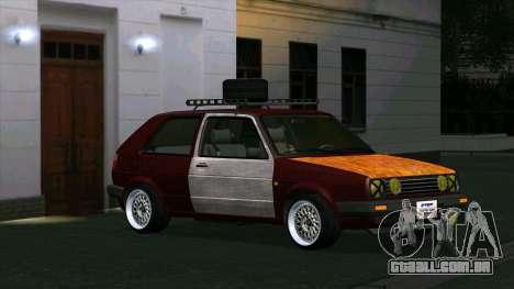 Volkswagen Golf II Rat Style para GTA San Andreas esquerda vista
