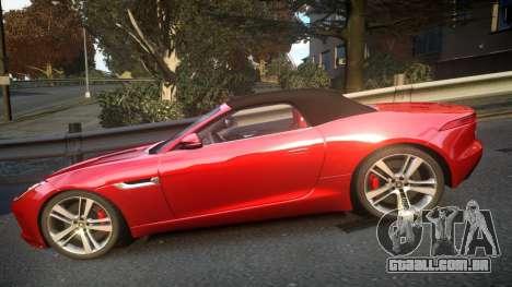 Jaguar F-Type v1.6 Release [EPM] para GTA 4 esquerda vista
