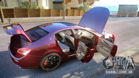 Maserati Ghibli 2014 v1.0 para GTA 4 vista superior