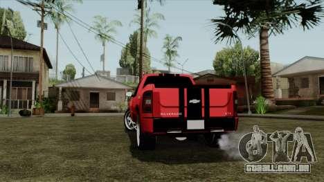 Chevrolet Silverado Tuning para GTA San Andreas traseira esquerda vista