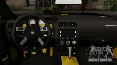 Dodge Challenger Yellow Jacket para GTA San Andreas vista direita