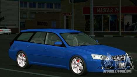 Subaru Legacy Touring Wagon 2003 para GTA San Andreas vista interior