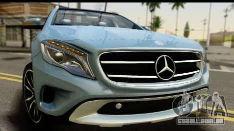 Mercedes-Benz GLA220 2014 para GTA San Andreas traseira esquerda vista