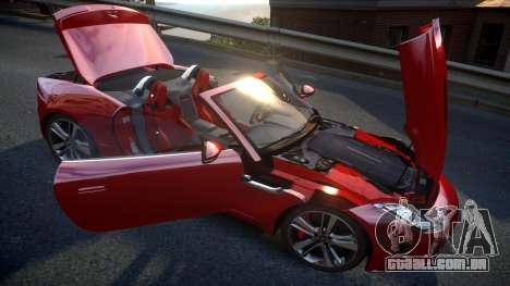 Jaguar F-Type v1.6 Release [EPM] para GTA 4 vista superior