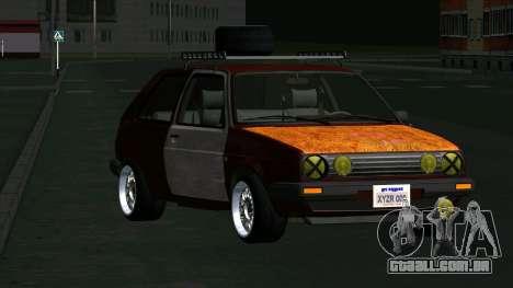 Volkswagen Golf II Rat Style para GTA San Andreas vista traseira