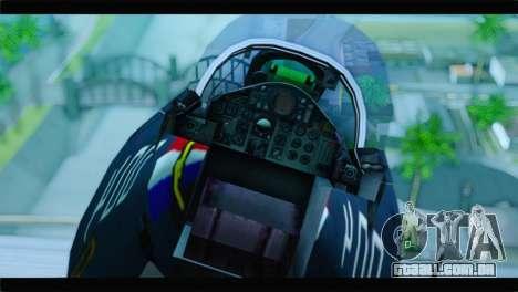 McDonnell Douglas F-4E RAF para GTA San Andreas vista traseira