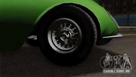 GTA 5 Grotti Stinger v2 SA Mobile para GTA San Andreas traseira esquerda vista
