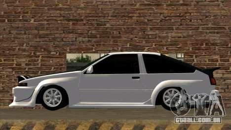 Toyota AE86 para GTA San Andreas esquerda vista