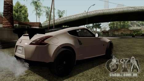Nissan 370Z Nismo para GTA San Andreas esquerda vista