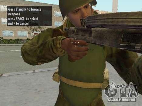 Os soldados do exército vermelho na armadura para GTA San Andreas sétima tela