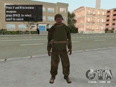 Os soldados do exército vermelho na armadura para GTA San Andreas