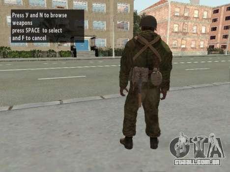Os soldados do exército vermelho na armadura para GTA San Andreas sexta tela