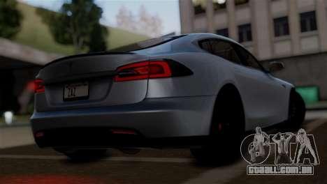 Tesla Model S 2014 para GTA San Andreas esquerda vista
