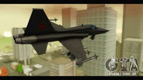 Northrop F-5E Top Gun para GTA San Andreas esquerda vista
