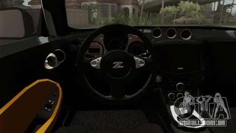 Nissan 370Z Nismo para GTA San Andreas vista traseira