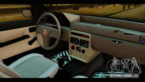 Fiat Uno Fire Mille para GTA San Andreas traseira esquerda vista