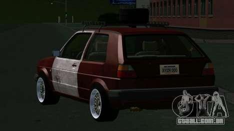 Volkswagen Golf II Rat Style para GTA San Andreas traseira esquerda vista