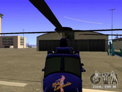 GTA 5 Valkyrie para GTA San Andreas vista inferior