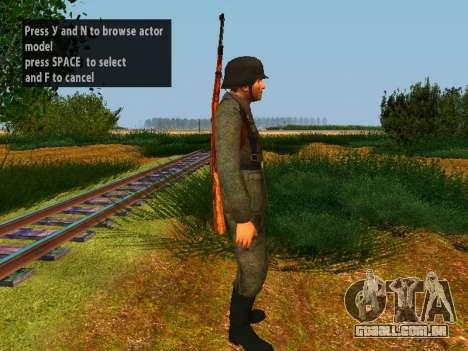 Soldados alemães para GTA San Andreas sexta tela