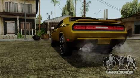 Dodge Challenger Yellow Jacket para GTA San Andreas traseira esquerda vista