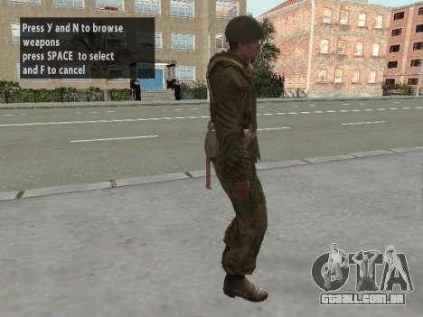 Os soldados do exército vermelho na armadura para GTA San Andreas quinto tela