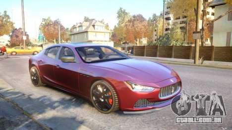 Maserati Ghibli 2014 v1.0 para GTA 4 vista lateral
