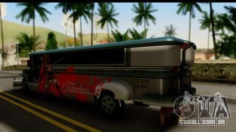 Patok Jeepney para GTA San Andreas esquerda vista