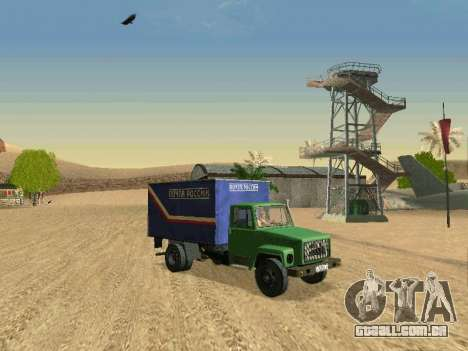 GAZ 3309 para GTA San Andreas vista inferior