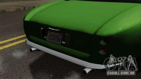 GTA 5 Grotti Stinger v2 SA Mobile para GTA San Andreas vista traseira