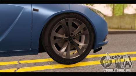 Opel Insignia Wagon para GTA San Andreas traseira esquerda vista