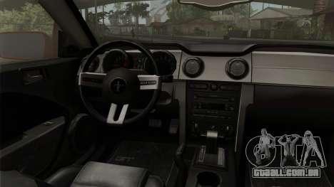 Ford Mustang Boss Cabriolet 2005 para GTA San Andreas vista direita