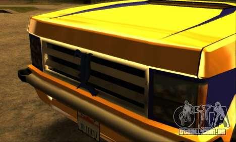 Luni Huntley para GTA San Andreas vista inferior