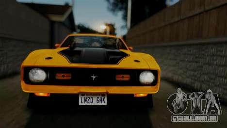 Ford Mustang Mach 1 429 Cobra Jet 1971 HQLM para GTA San Andreas vista interior