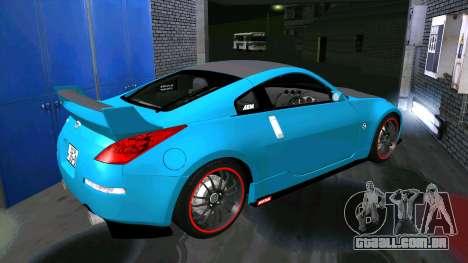 Nissan 350Z para GTA San Andreas vista traseira