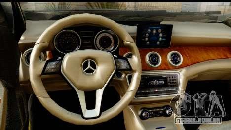 Mercedes-Benz GLA220 2014 para GTA San Andreas vista interior