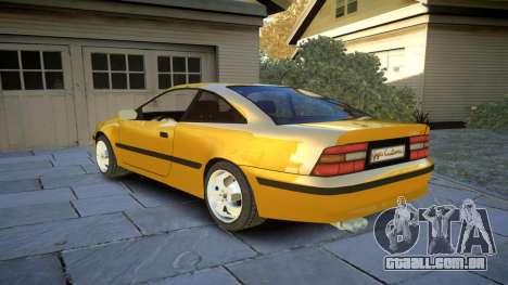 Opel Calibra v2 para GTA 4 traseira esquerda vista