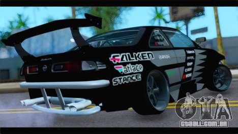Nissan Silvia S14 Zenki Falken para GTA San Andreas esquerda vista