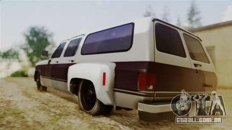 Chevrolet Suburban Dually para GTA San Andreas esquerda vista