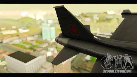 Northrop F-5E Top Gun para GTA San Andreas traseira esquerda vista