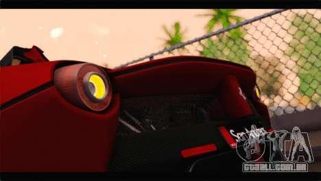 Ferrari LaFerrari 2014 para vista lateral GTA San Andreas