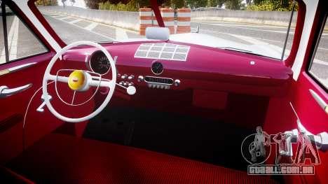Ford Custom Club 1949 v2.2 para GTA 4 vista de volta