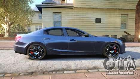 Maserati Ghibli 2014 v1.0 para GTA 4 vista de volta