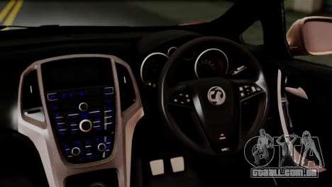 Vauxhall Astra VXR 2012 Itasha para GTA San Andreas vista traseira