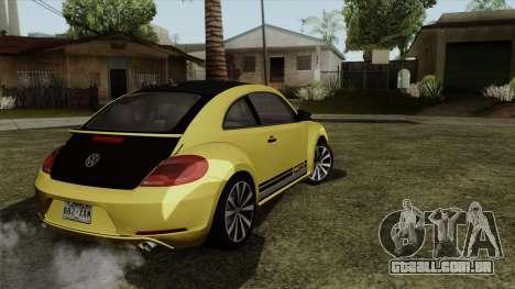 Volkswagen New Beetle 2014 GSR para GTA San Andreas esquerda vista