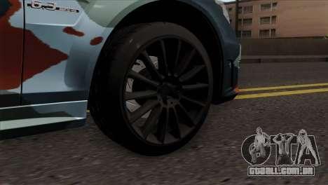 Mercedes-Benz C63 AMG para GTA San Andreas traseira esquerda vista